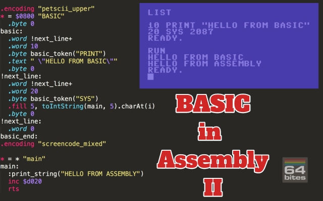 64bites - Episode #102 - BASIC in Assembly II